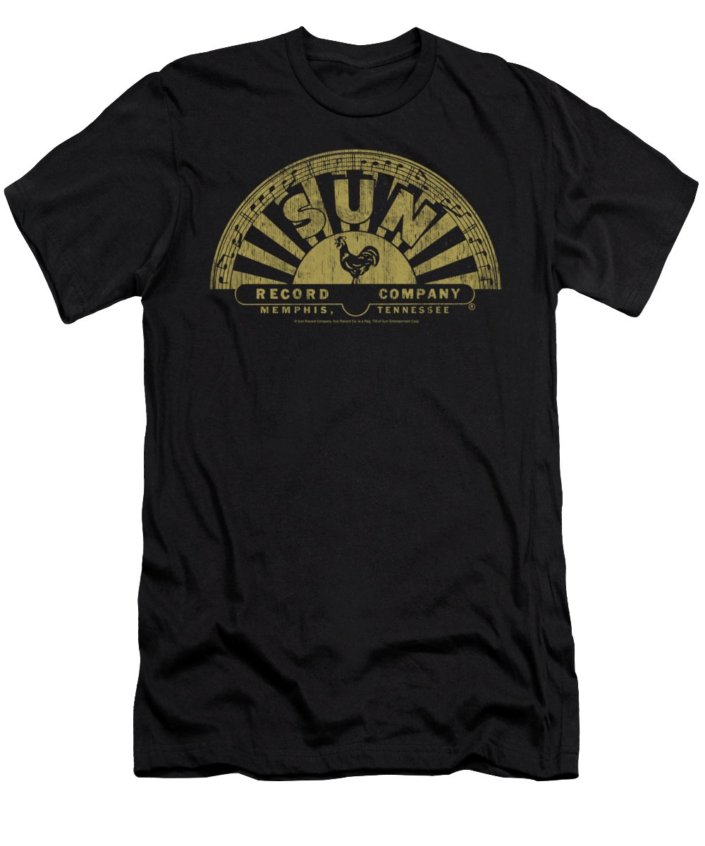 Sun Record Company Men's T-Shirt (Athletic Fit) featuring the digital art Sun - Tattered Logo by Brand A