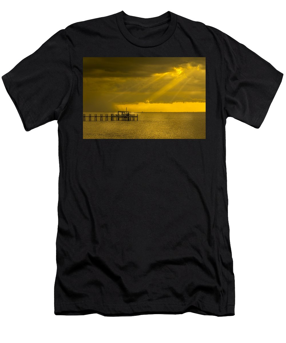 Sunbeams Men's T-Shirt (Athletic Fit) featuring the photograph Sunbeams Of Hope by Marvin Spates