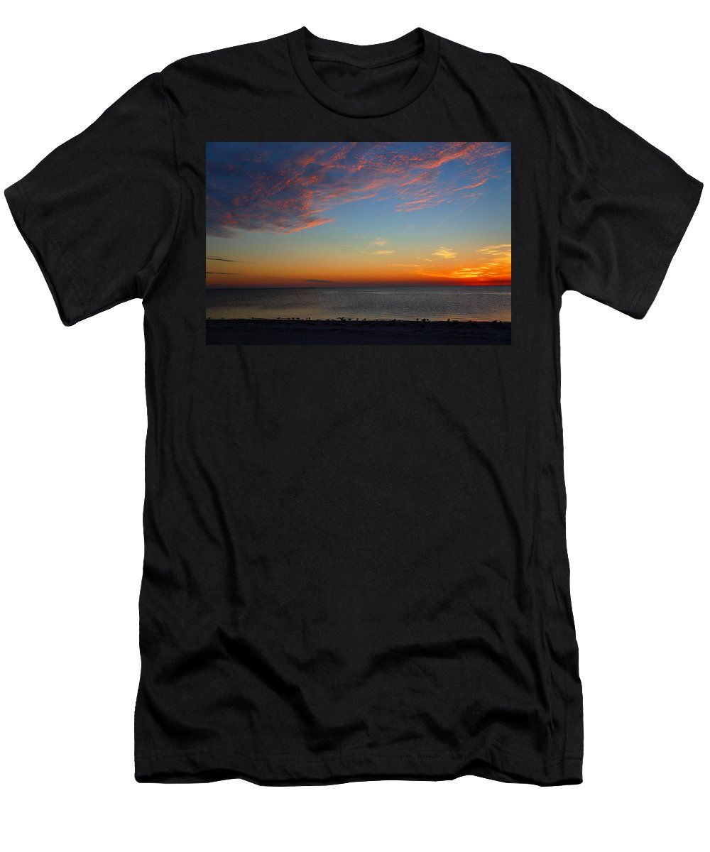 Sunset Men's T-Shirt (Athletic Fit) featuring the photograph Sundown by Ronald Chacon