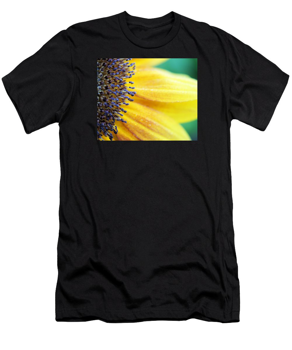 Flower Men's T-Shirt (Athletic Fit) featuring the photograph Sunflower Close Up by FL collection