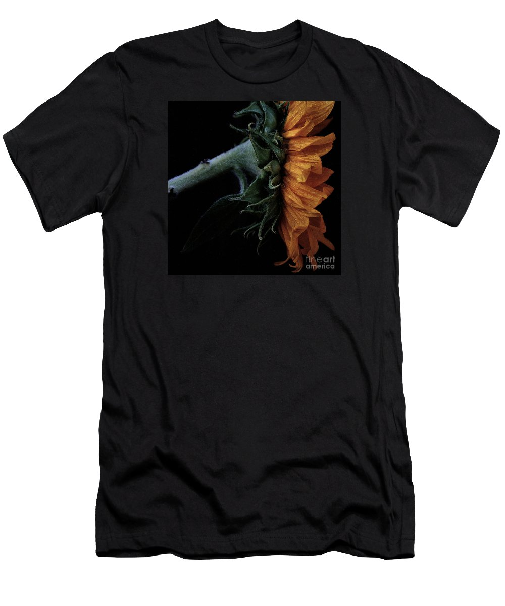Sunflower Men's T-Shirt (Athletic Fit) featuring the photograph Sunflower Close Up by Luv Photography