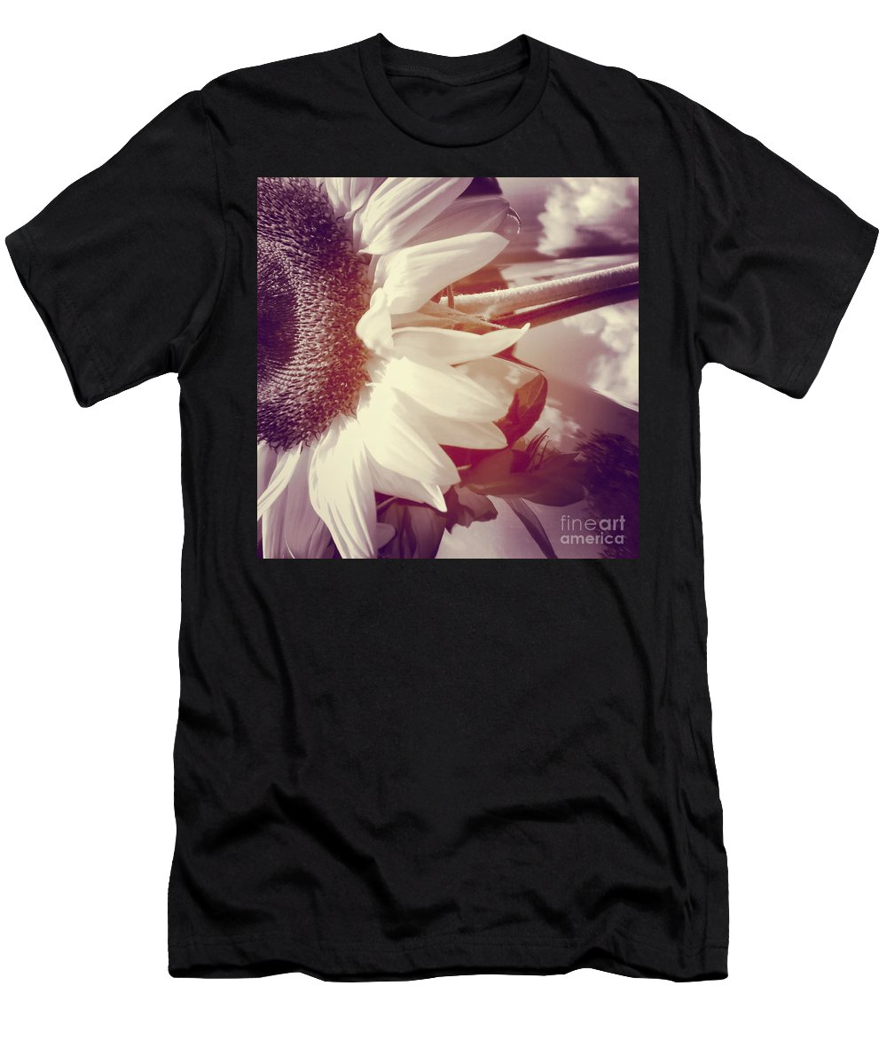 Sunflower Men's T-Shirt (Athletic Fit) featuring the photograph Sunflower Digital Art by Charlie Cliques
