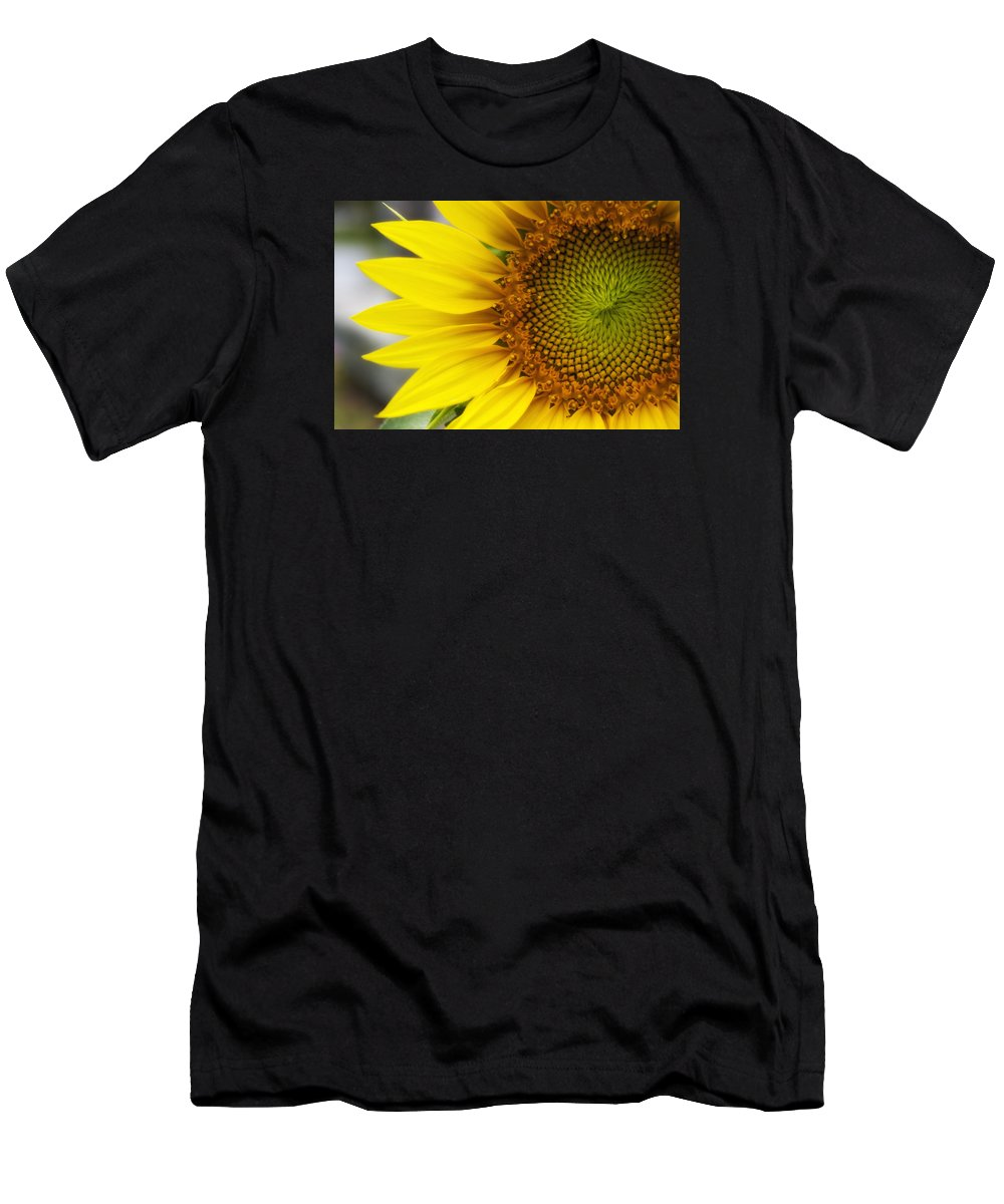 Sunflower Men's T-Shirt (Athletic Fit) featuring the photograph Sunflower Face by Shelly Gunderson
