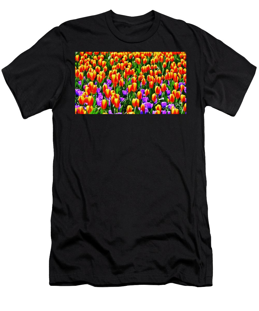 Travel Men's T-Shirt (Athletic Fit) featuring the photograph Sunrise And Lavendar by Elvis Vaughn