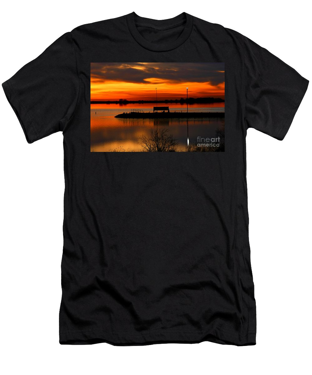 Landscape Men's T-Shirt (Athletic Fit) featuring the photograph Sunrise At Jackson by Steven Reed
