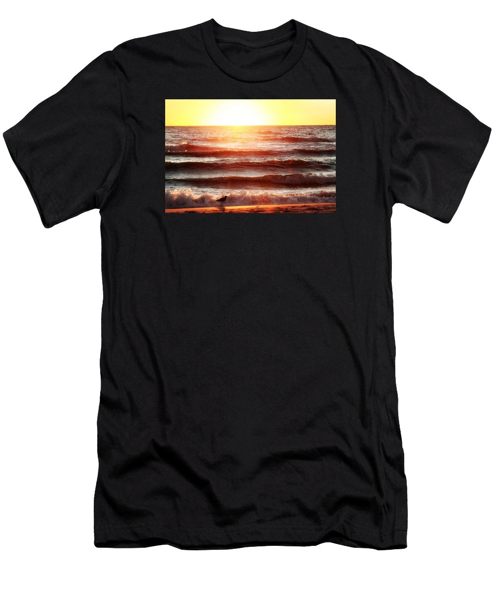 Sunset Men's T-Shirt (Athletic Fit) featuring the photograph Sunset Beach by Daniel George