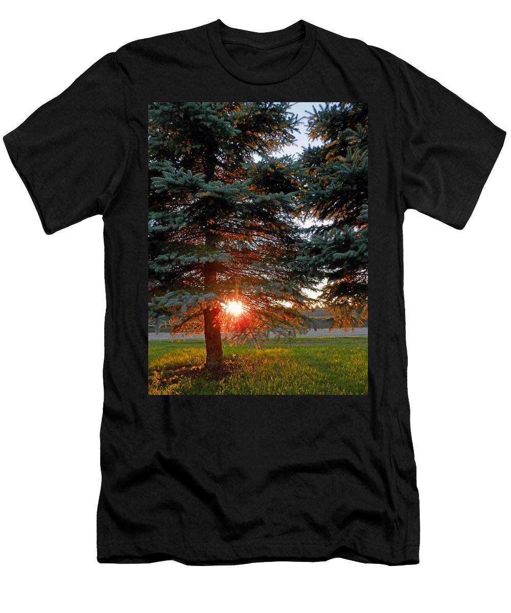 Sunset Men's T-Shirt (Athletic Fit) featuring the photograph Sunset by Pema Hou