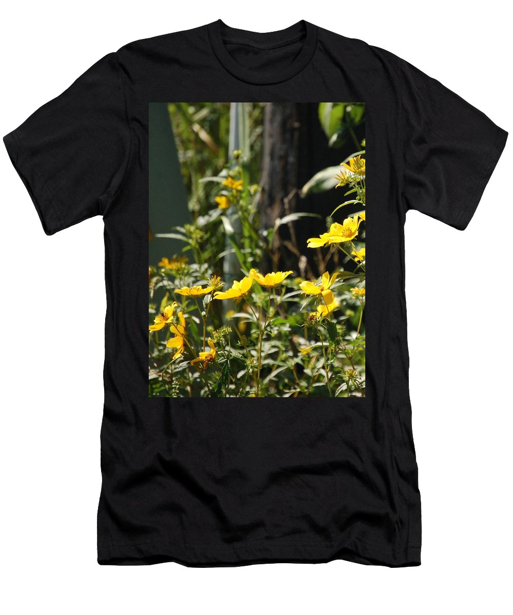 Wildflower Men's T-Shirt (Athletic Fit) featuring the photograph Sunshine Flowers 2 by Lucy Bounds