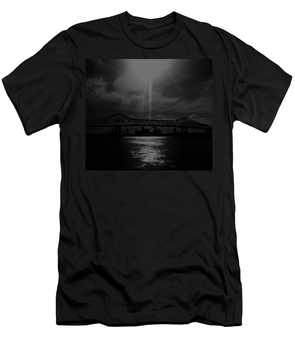 Baton Rouge Men's T-Shirt (Athletic Fit) featuring the photograph Sunshine In An Industrial World by Michele Monk