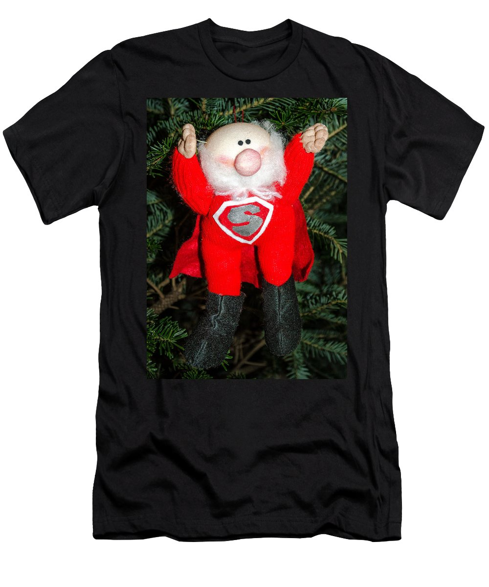 Christmas Men's T-Shirt (Athletic Fit) featuring the photograph Super Santa by Georgette Grossman