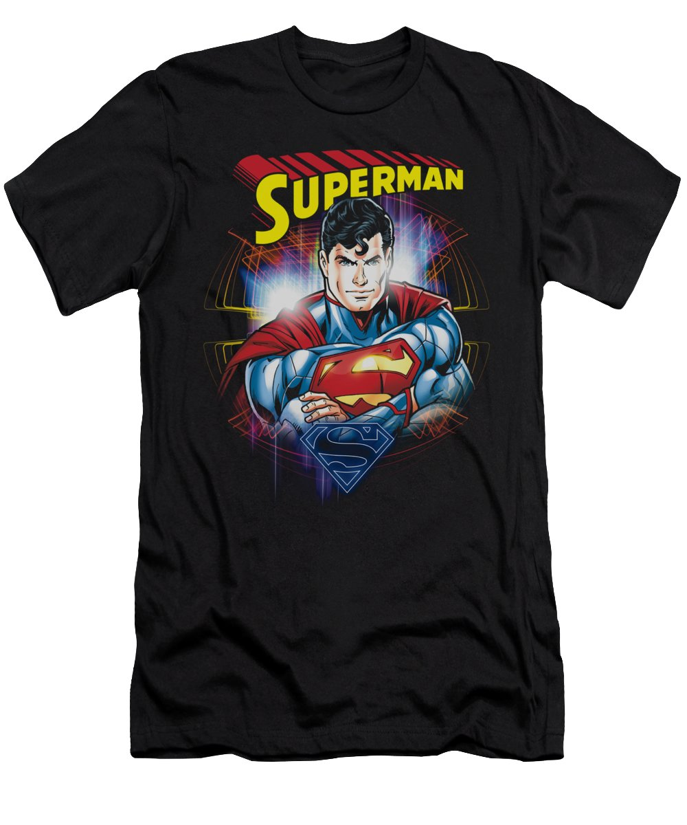 Superman T-Shirt featuring the digital art Superman - Glam by Brand A