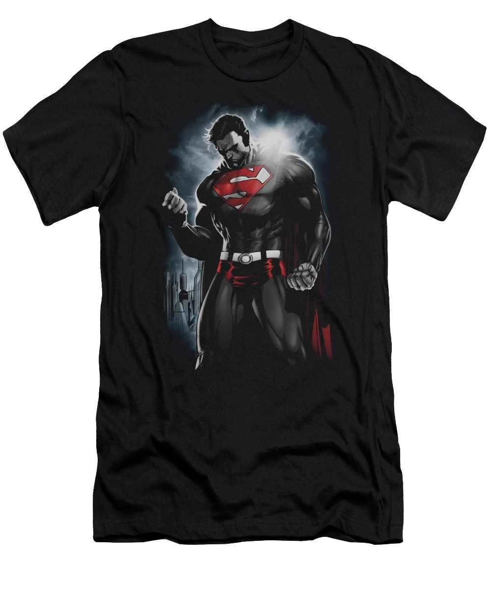 Superman T-Shirt featuring the digital art Superman - Light Of The Sun by Brand A