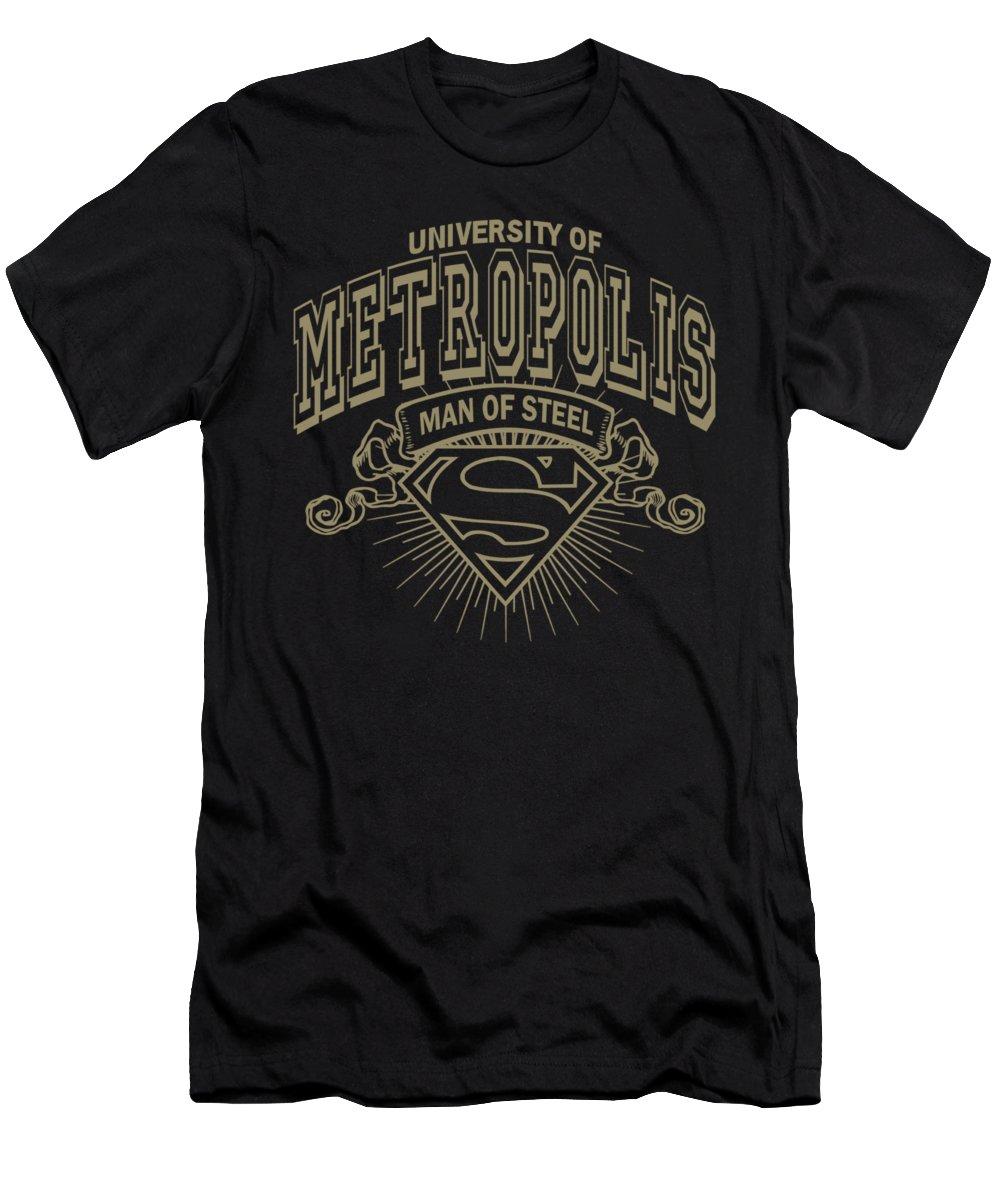 Superman T-Shirt featuring the digital art Superman - University Of Metropolis by Brand A