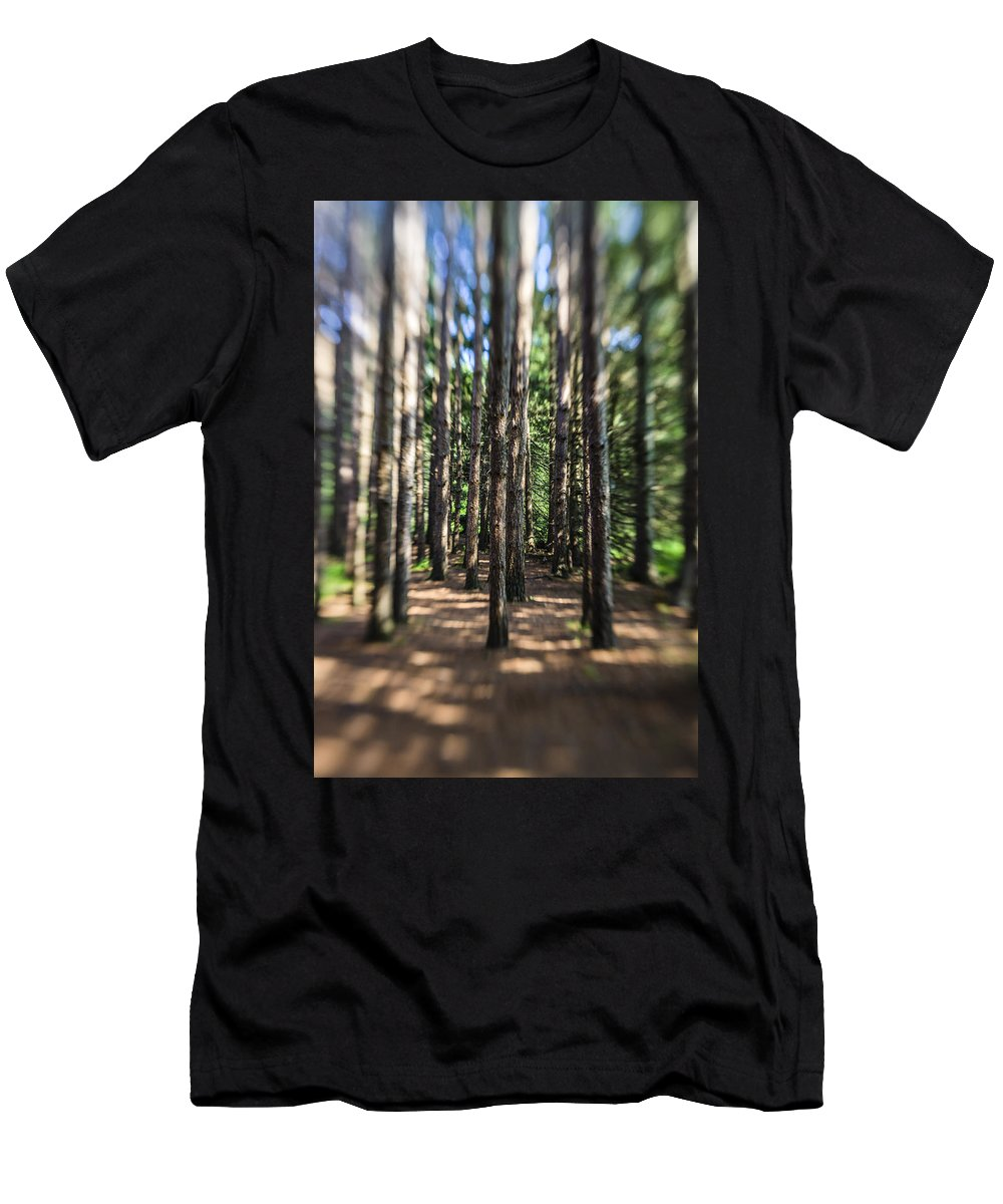 Water Men's T-Shirt (Athletic Fit) featuring the photograph Surreal Forest by Alex Potemkin