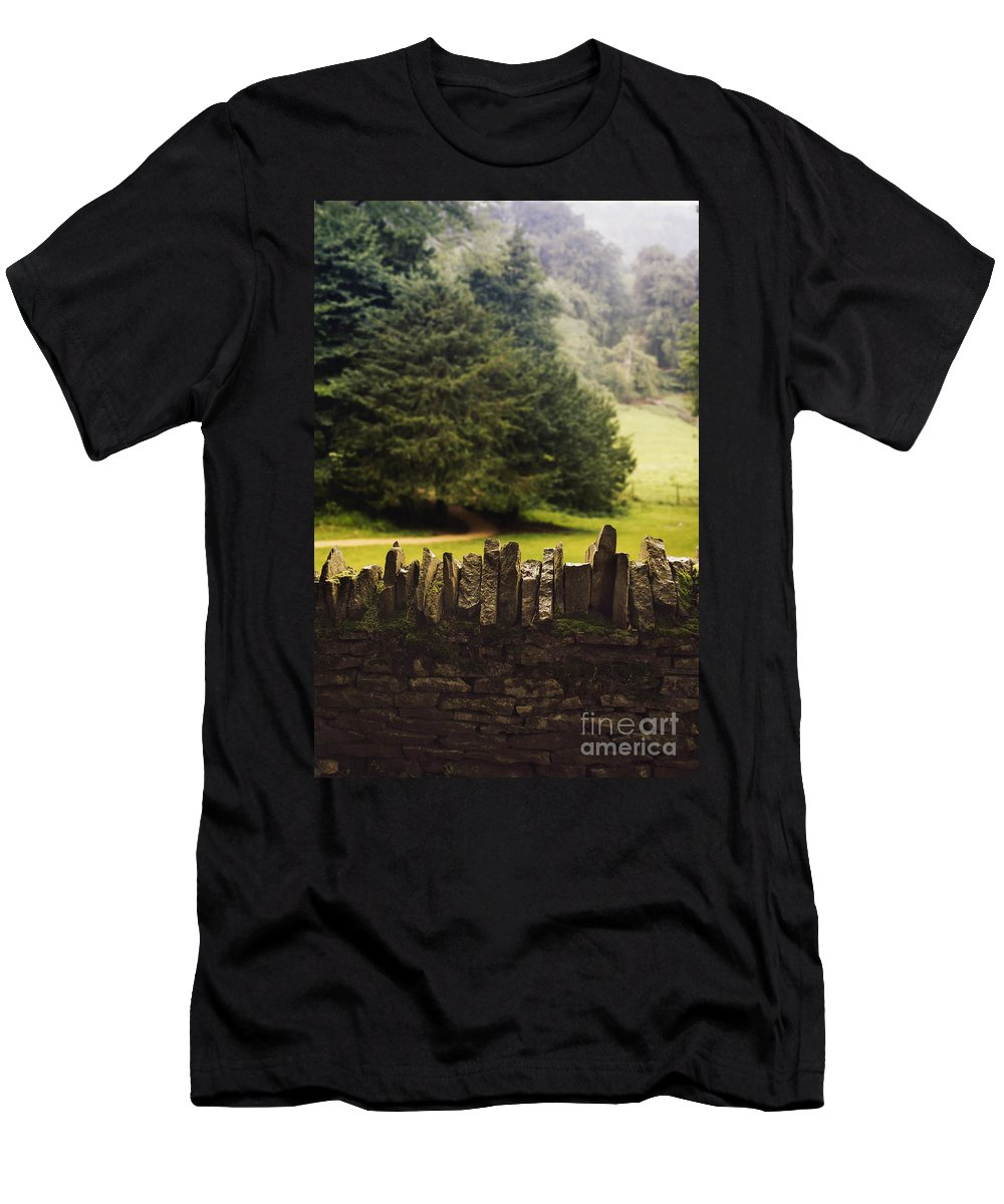 Stone Men's T-Shirt (Athletic Fit) featuring the photograph Surrounding The Pasture by Margie Hurwich
