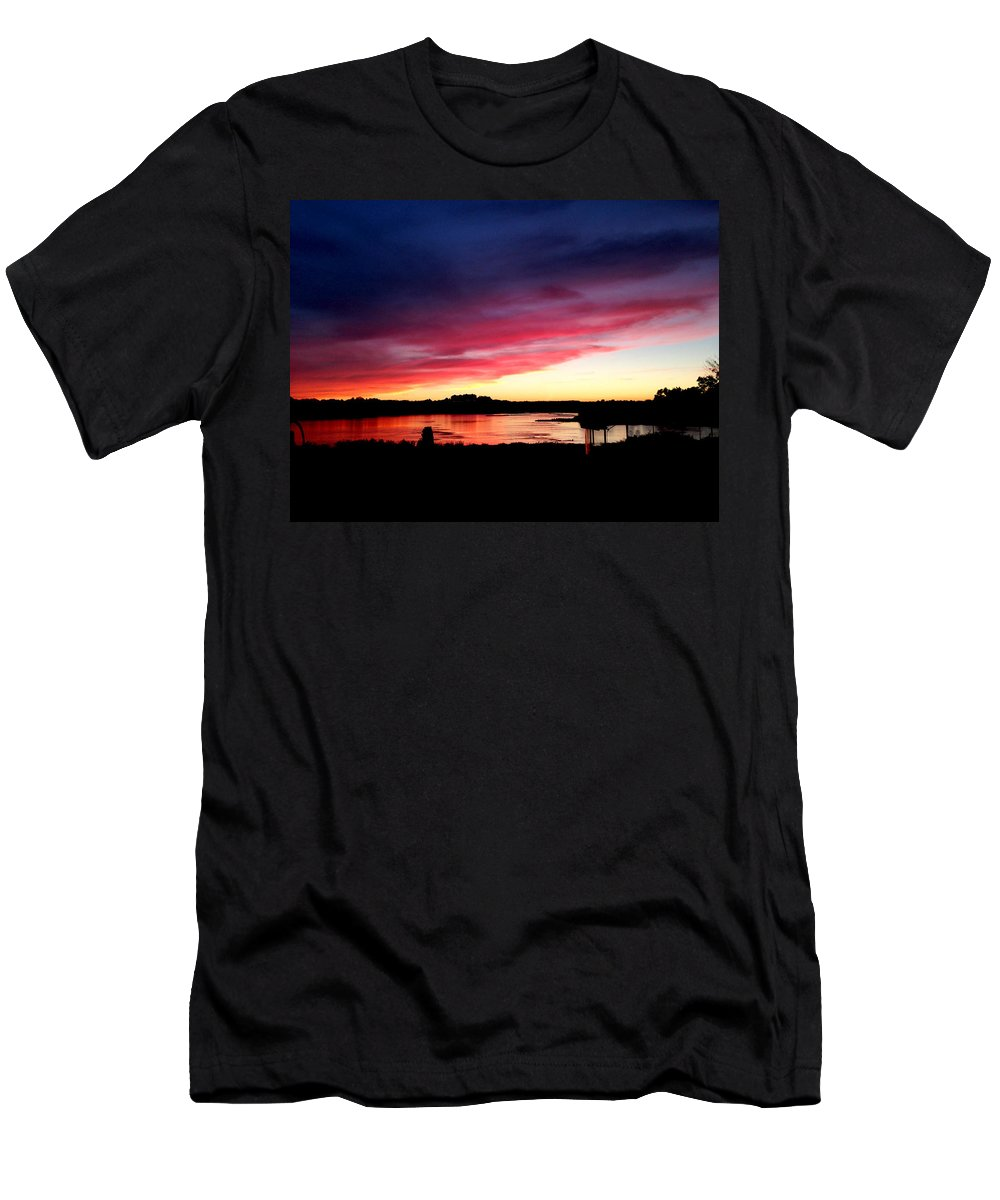 Sunset T-Shirt featuring the photograph Susquehanna Sunset by Jean Macaluso