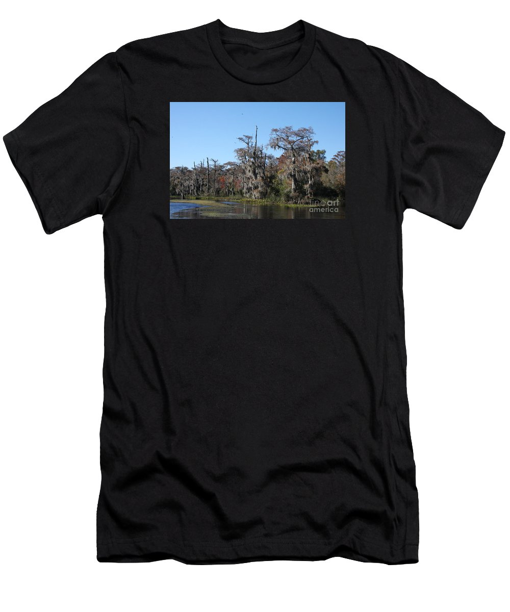 Swamp Men's T-Shirt (Athletic Fit) featuring the photograph Swamp Serenity by Christiane Schulze Art And Photography
