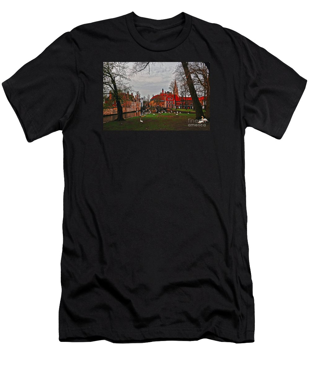 Travel Men's T-Shirt (Athletic Fit) featuring the photograph Swan Song by Elvis Vaughn