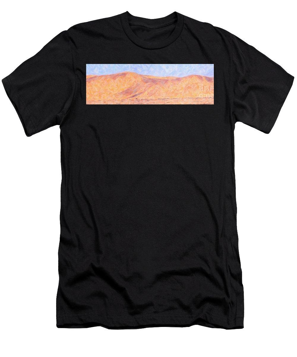 Swapokmund Men's T-Shirt (Athletic Fit) featuring the digital art Swapokmund Dunes by Liz Leyden
