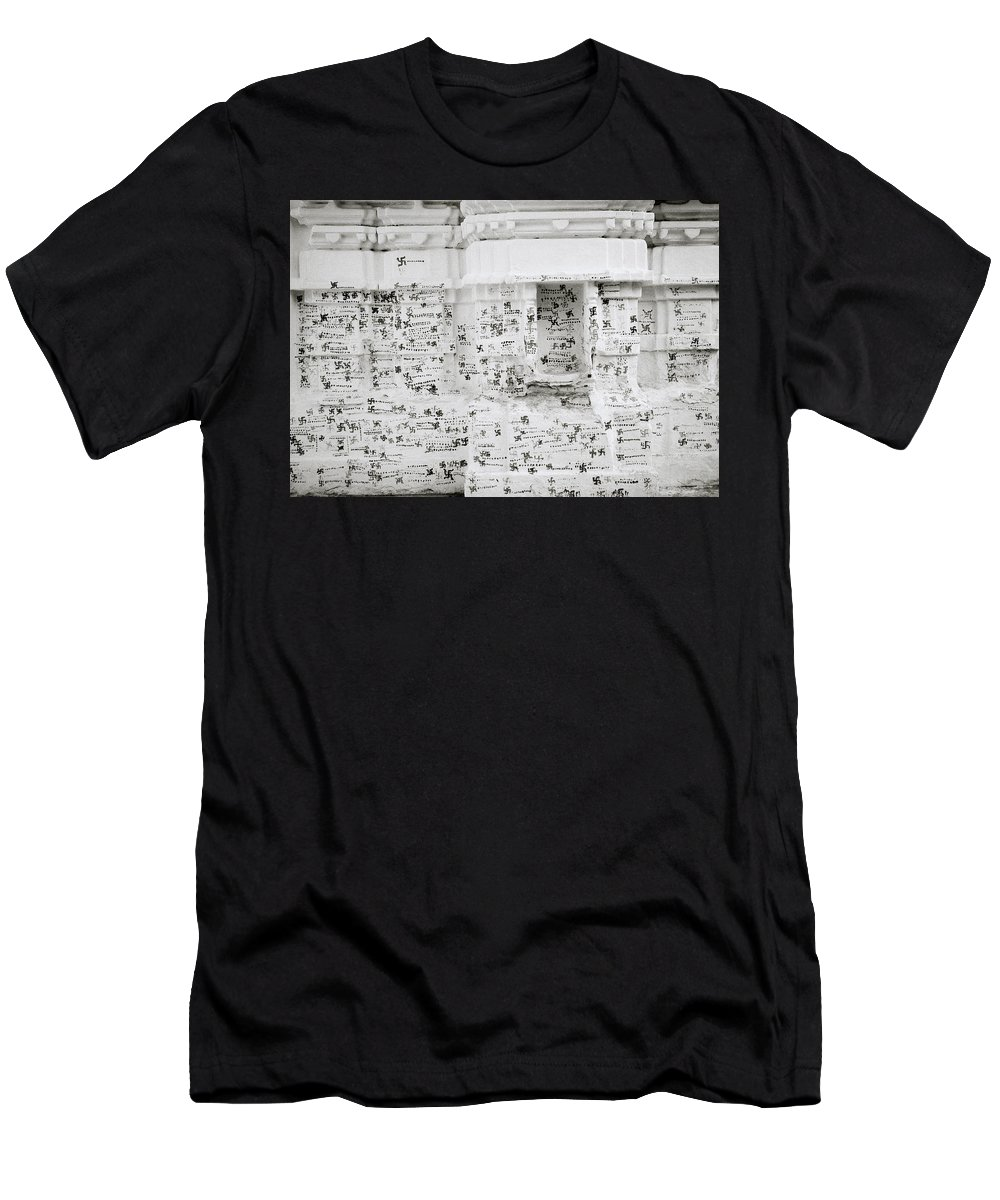 India Men's T-Shirt (Athletic Fit) featuring the photograph Swastikas by Shaun Higson