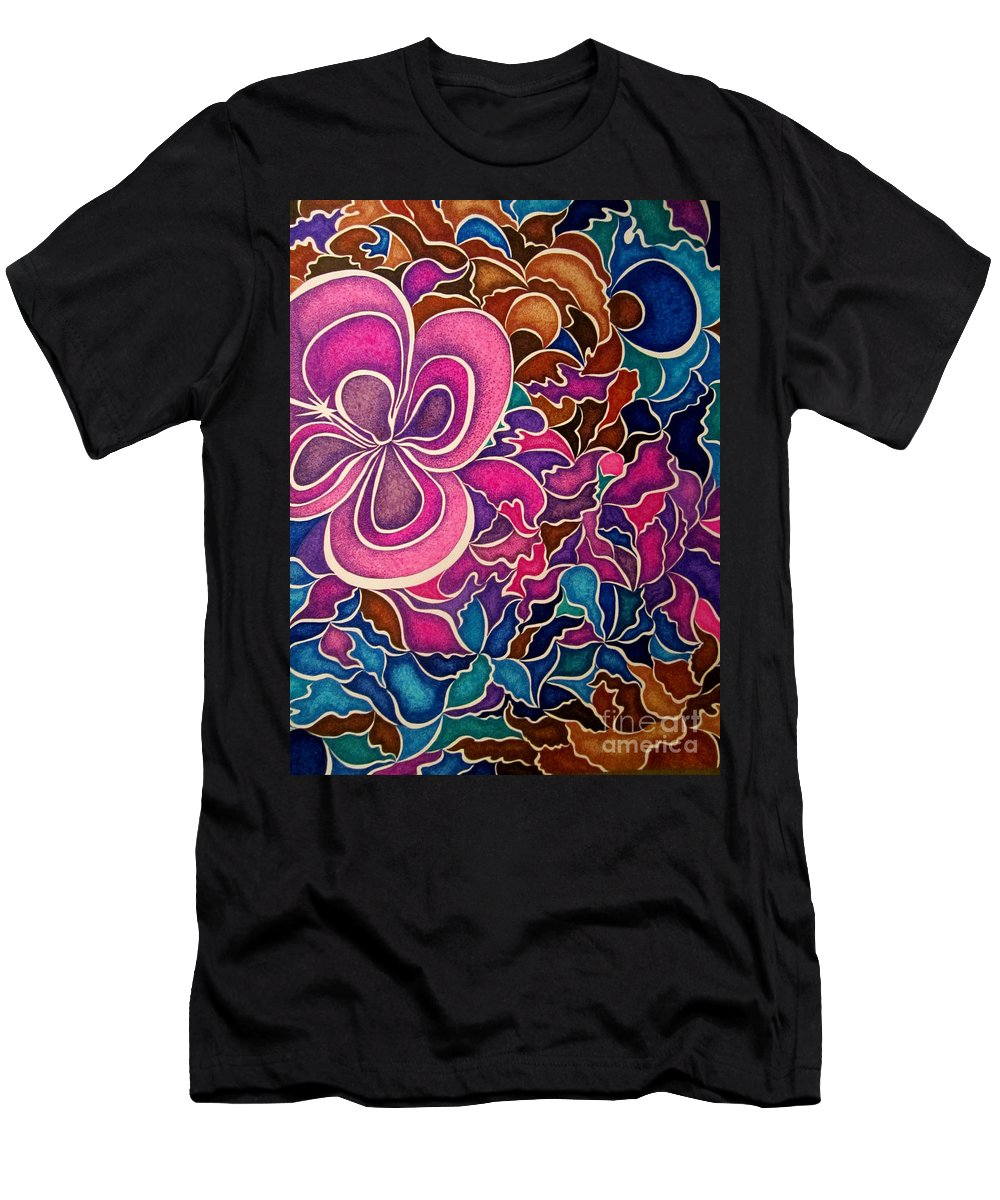 Abstract Men's T-Shirt (Athletic Fit) featuring the drawing Sweet Assurance by Kathleen Allen