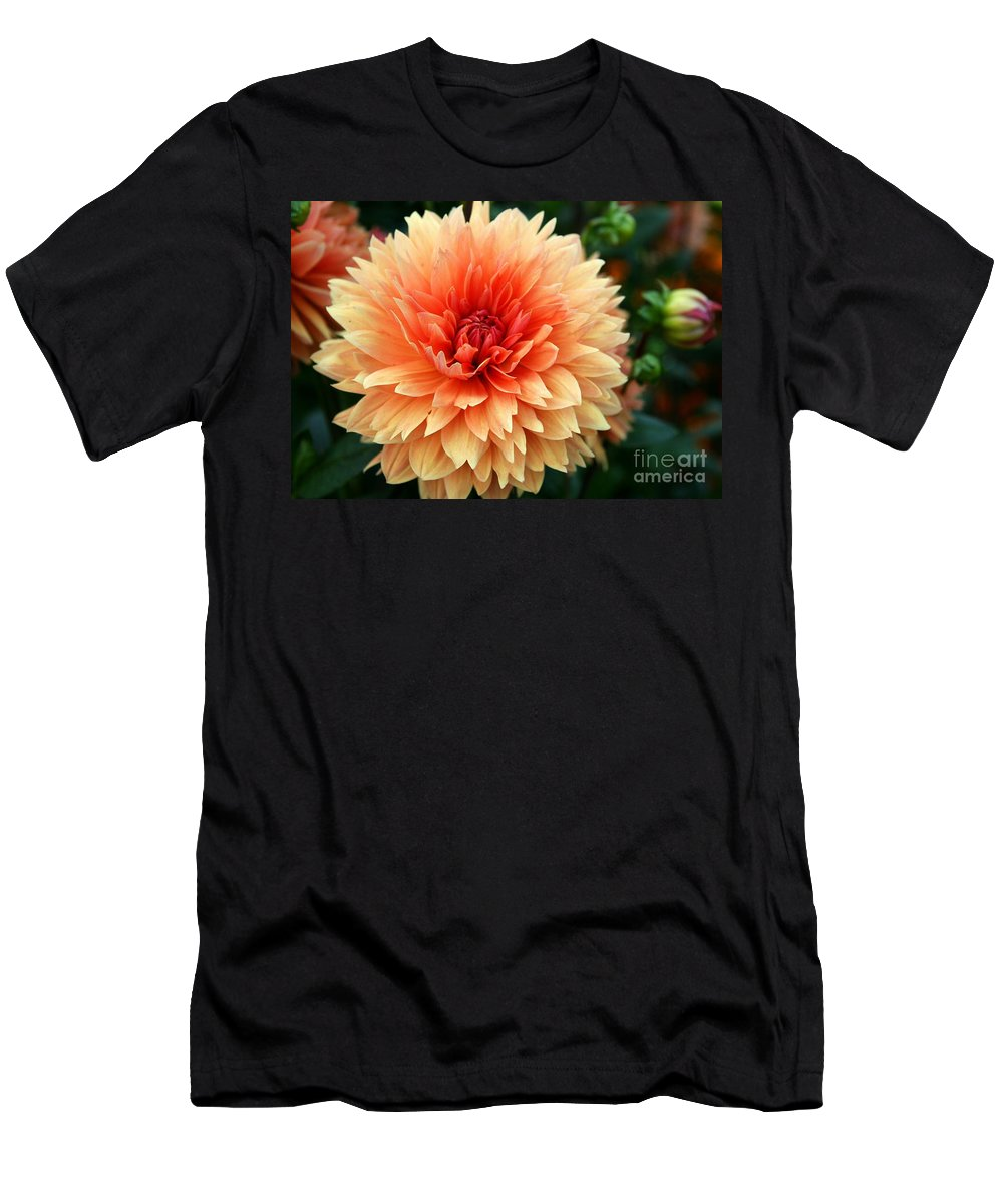 Dahlia Men's T-Shirt (Athletic Fit) featuring the photograph Sweet Dahlia by Christiane Schulze Art And Photography