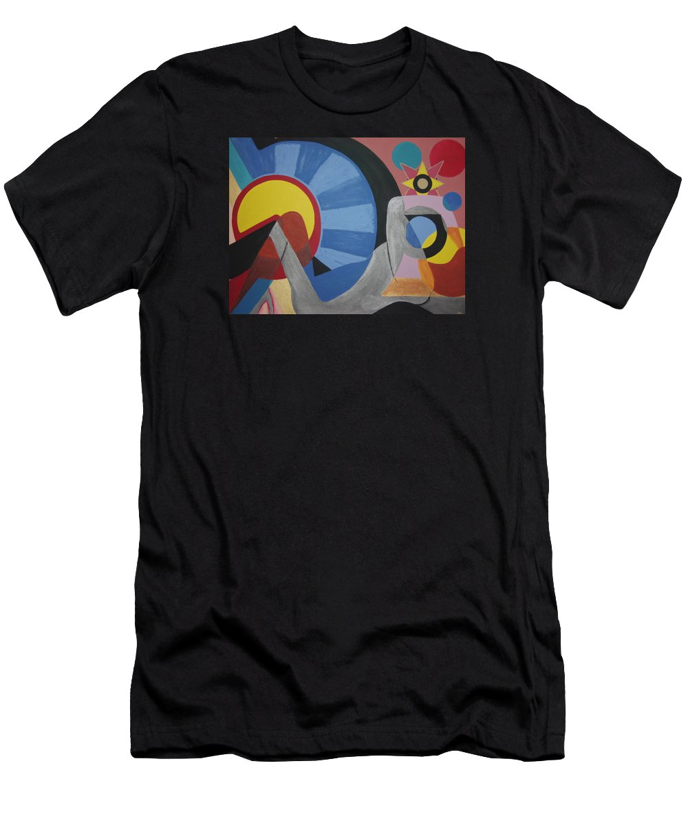 Abstract Men's T-Shirt (Athletic Fit) featuring the painting Sweet Dreams Are Made Of These by Dean Stephens