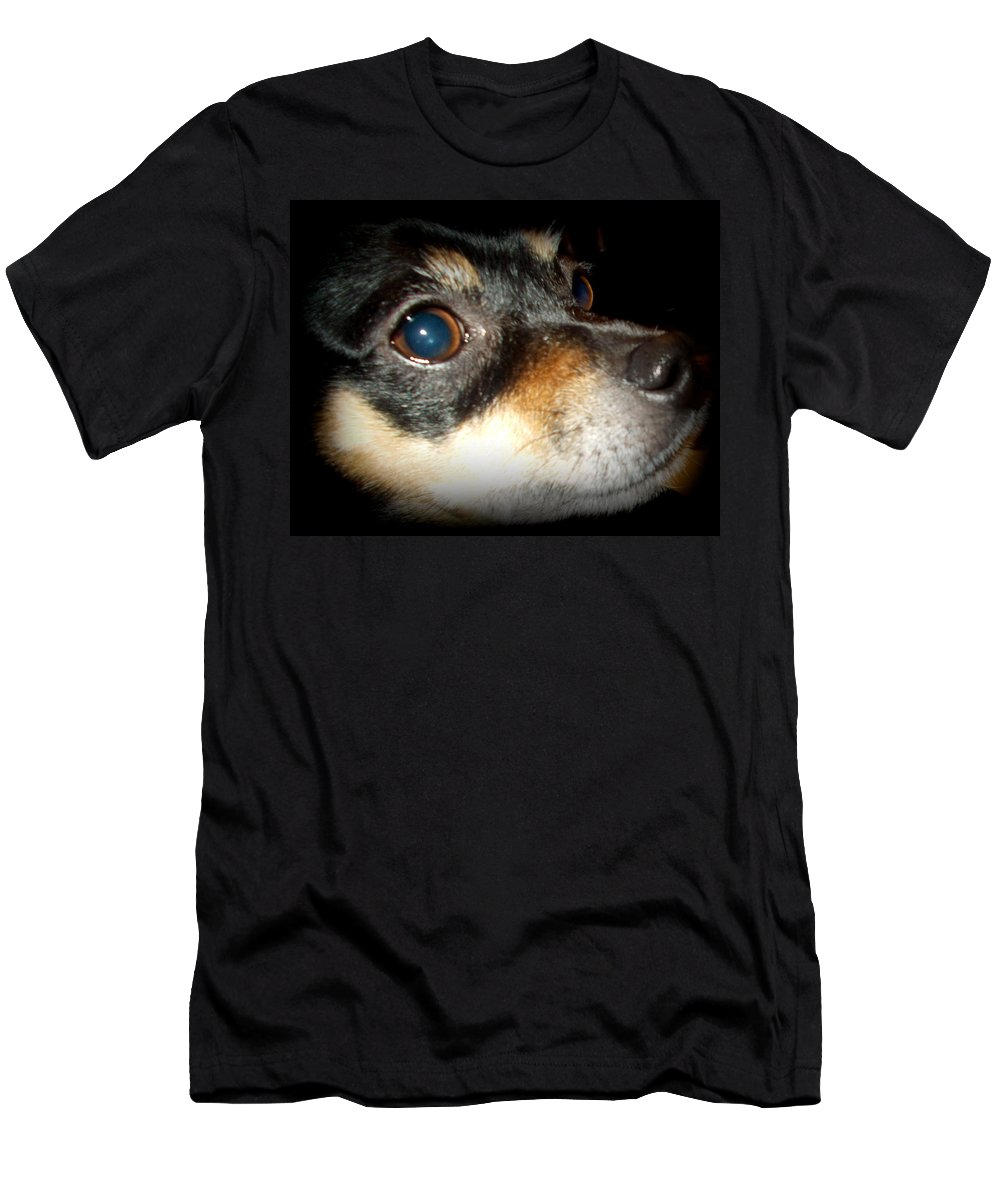 Miniature Men's T-Shirt (Athletic Fit) featuring the photograph Sweet Look Of Love by Pamela Hyde Wilson