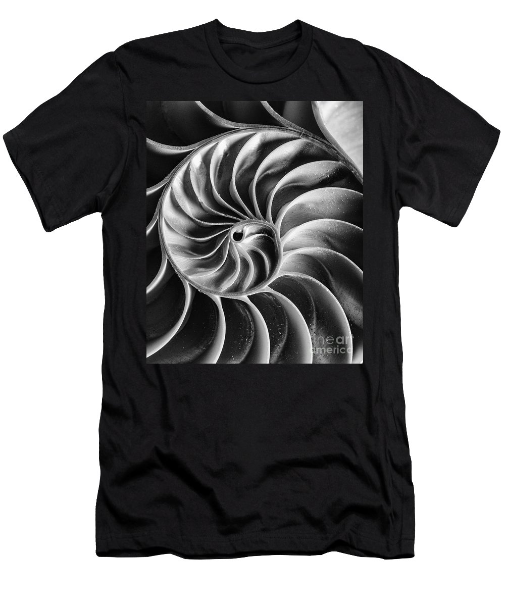 Shelldesign Men's T-Shirt (Athletic Fit) featuring the photograph Swirl IIi by Bruce Bain