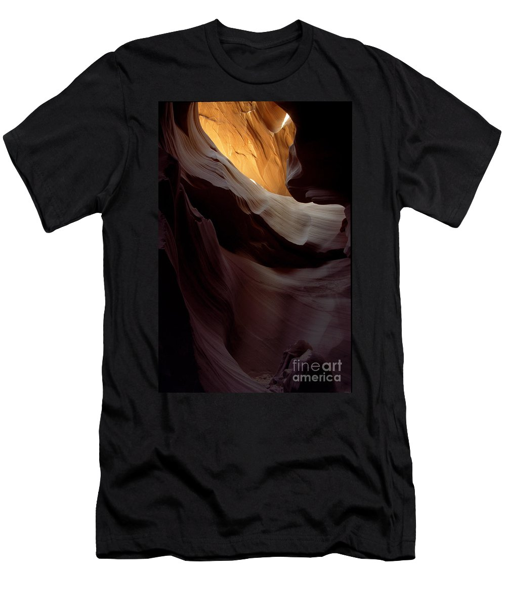 Slot Canyons Men's T-Shirt (Athletic Fit) featuring the photograph Swopes by Kathy McClure