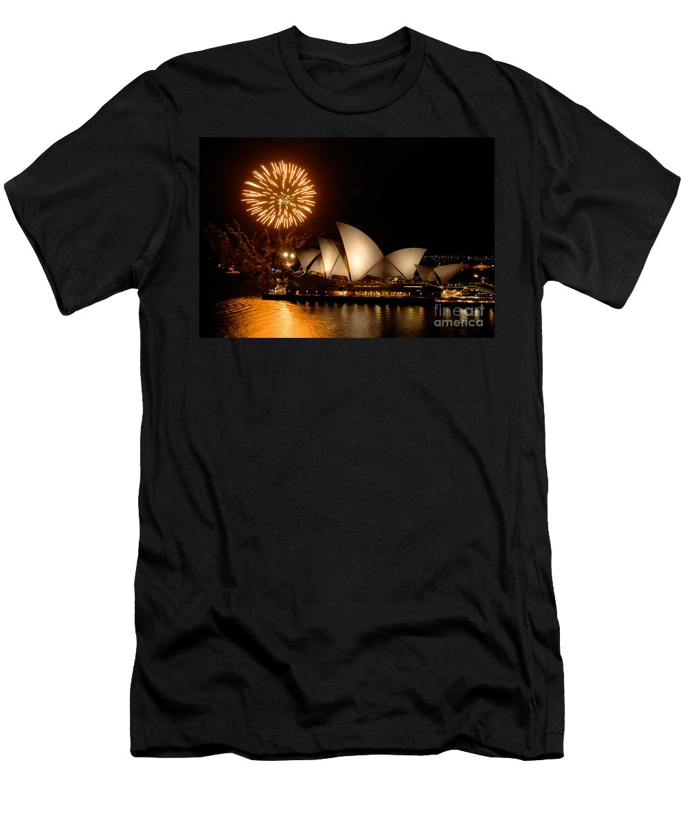 Sydney Opera Theatre Men's T-Shirt (Athletic Fit) featuring the photograph Sydney Opera Theatre by Bob Christopher