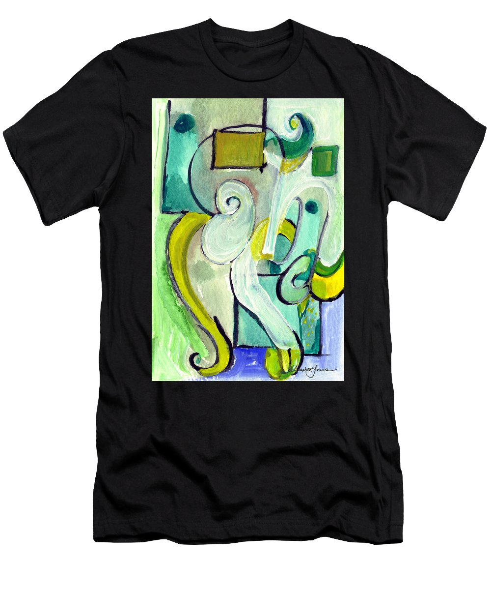 Abstract Art Men's T-Shirt (Athletic Fit) featuring the painting Symphony In Green by Stephen Lucas