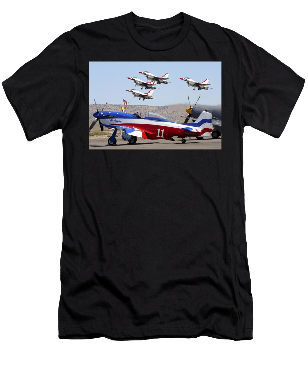Air Force Men's T-Shirt (Athletic Fit) featuring the photograph Miss America And The T-birds by Rick Pisio