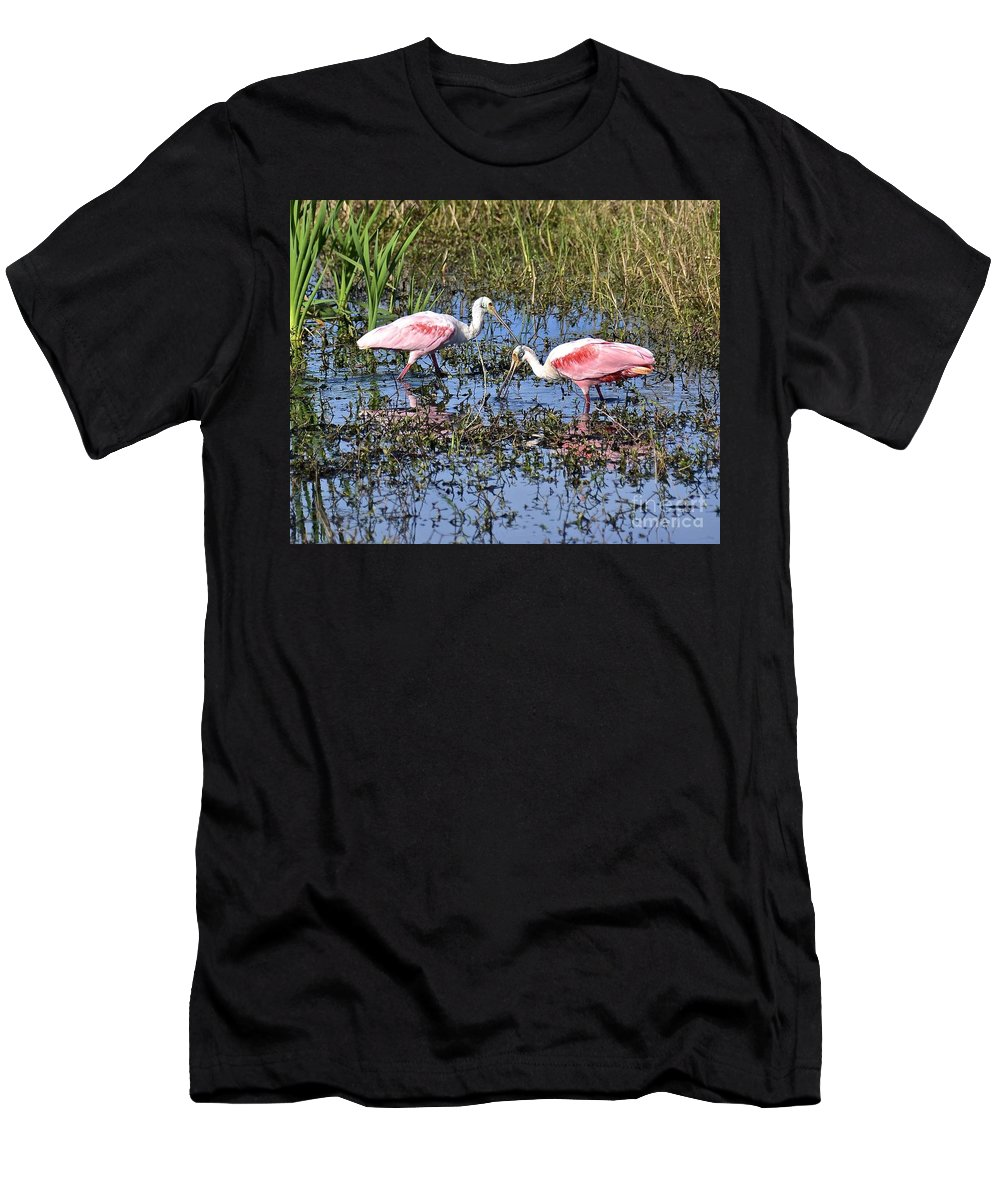 Roseate Men's T-Shirt (Athletic Fit) featuring the photograph Table For Two by Carol Bradley