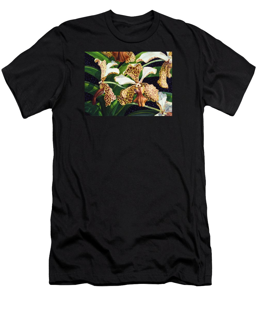Flower Men's T-Shirt (Athletic Fit) featuring the painting Tachannon by Lynda Hoffman-Snodgrass