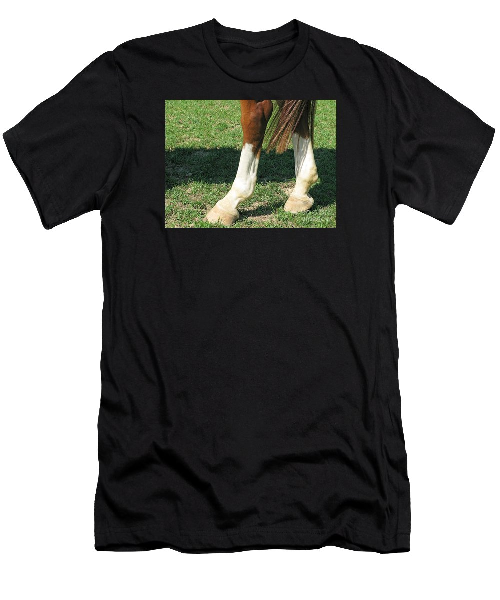 Horse Men's T-Shirt (Athletic Fit) featuring the photograph Tail End by Ann Horn