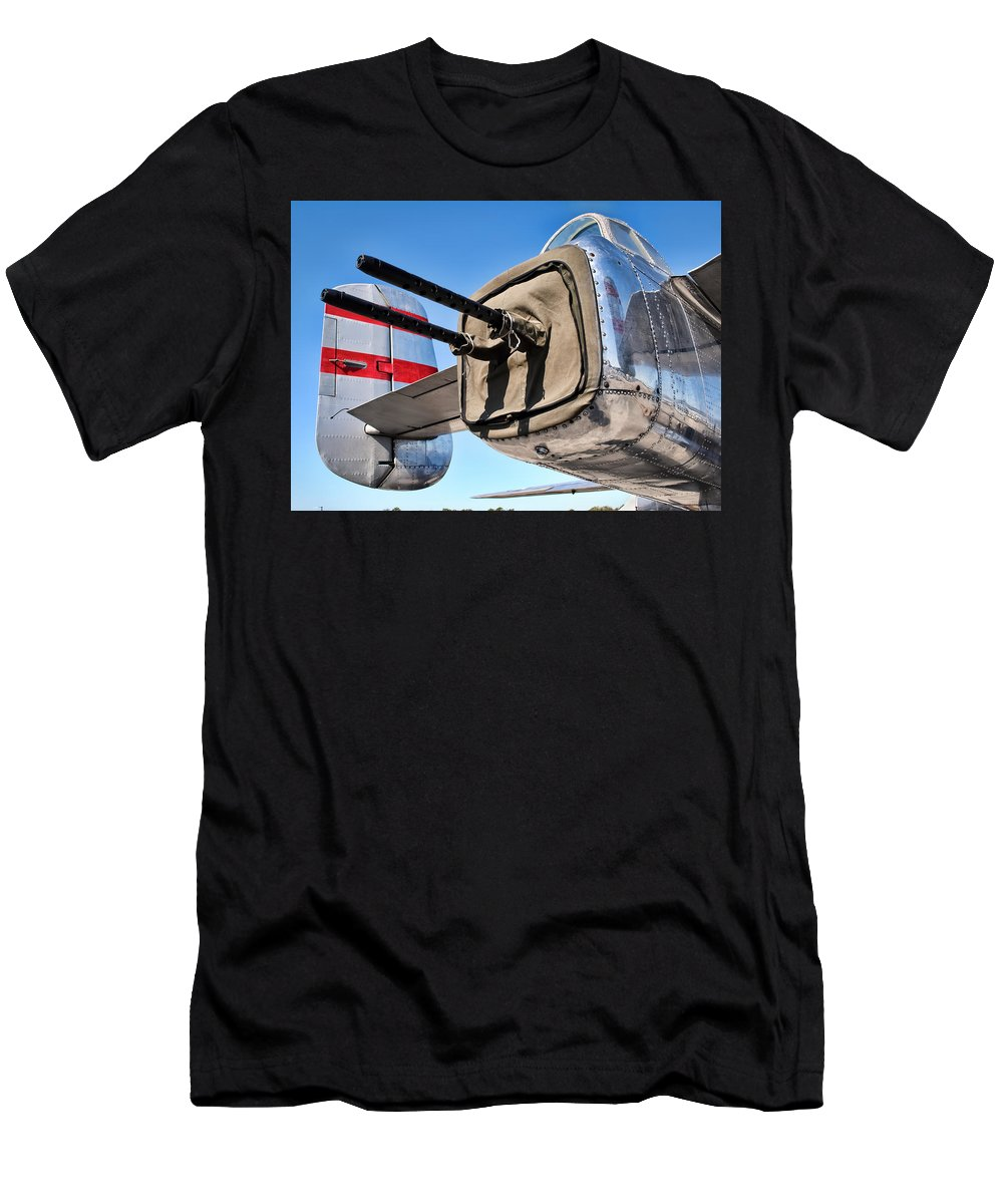 B-25 Men's T-Shirt (Athletic Fit) featuring the photograph Tail Gunner by David Hart