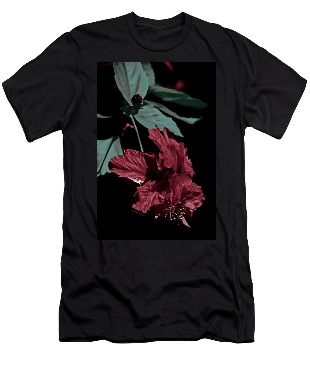 Hibiscus Men's T-Shirt (Athletic Fit) featuring the photograph Taking A Bow by DigiArt Diaries by Vicky B Fuller
