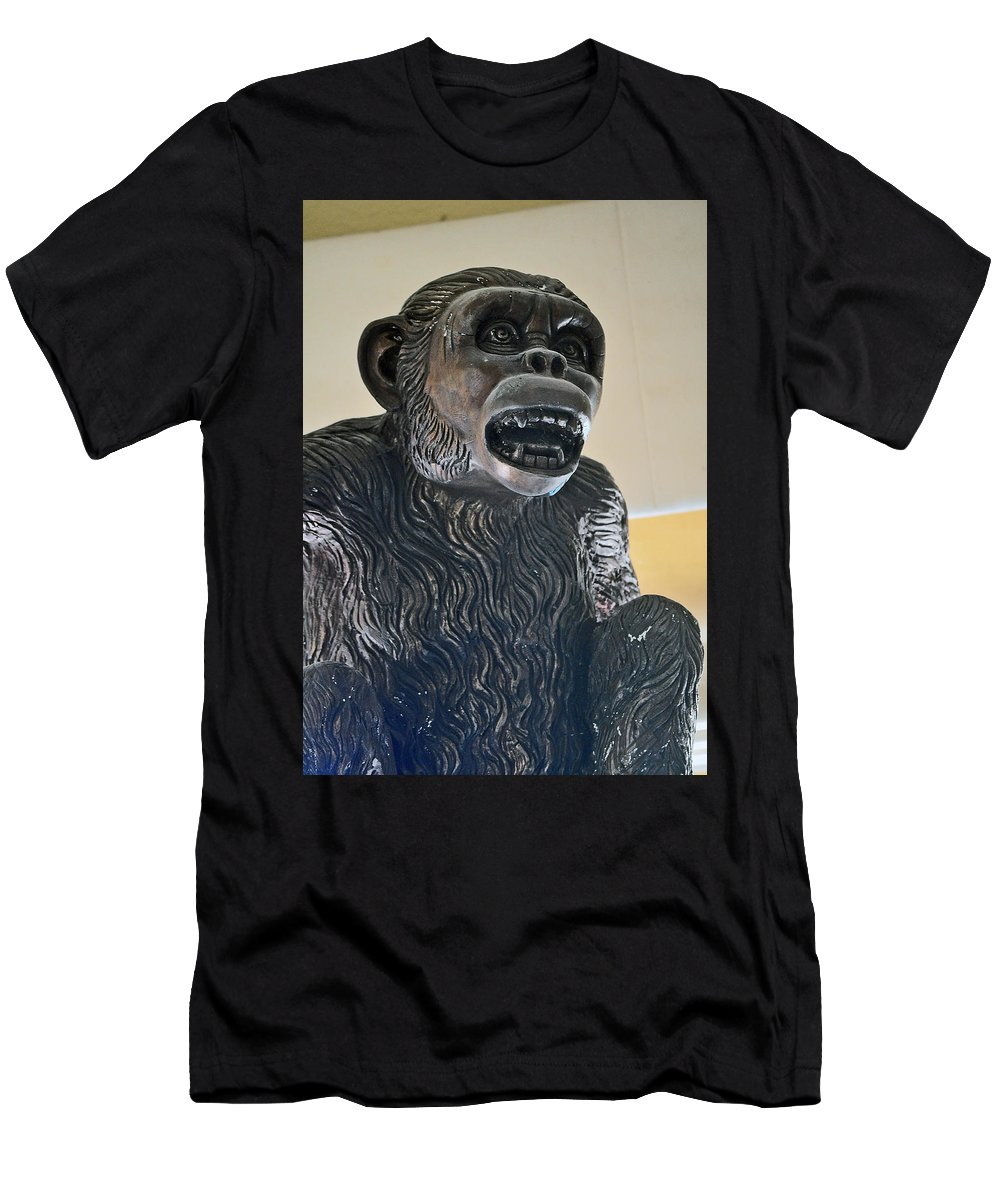 Monkey Men's T-Shirt (Athletic Fit) featuring the photograph Talk About Brass by Jay Milo
