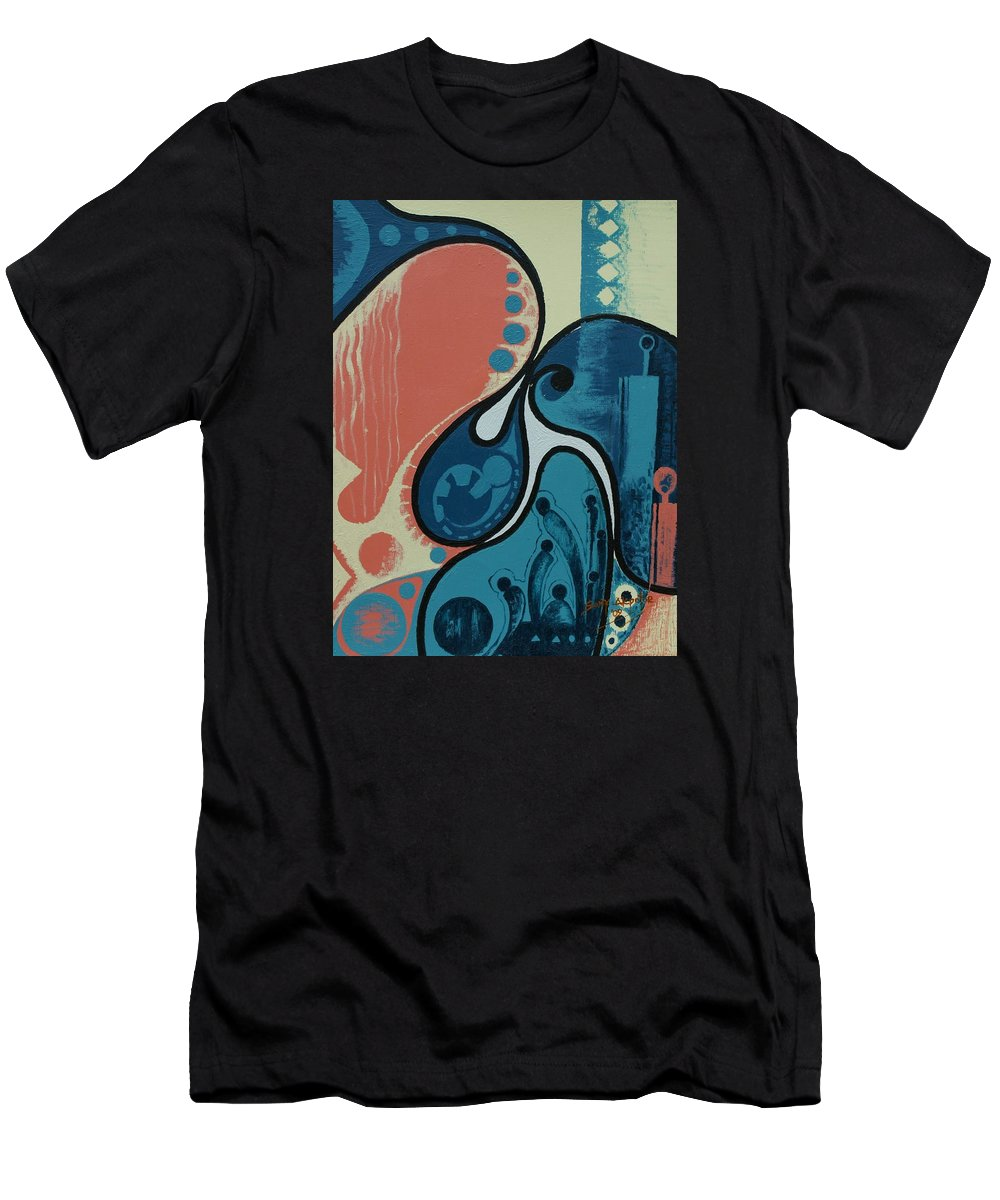 Abstract Men's T-Shirt (Athletic Fit) featuring the painting Tamed by Sony Ejiro Akpotor