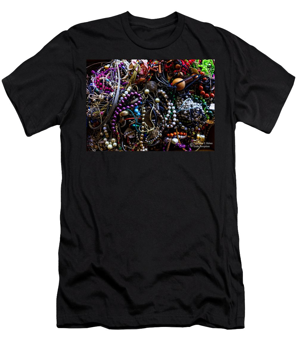 Christopher Holmes Photography Men's T-Shirt (Athletic Fit) featuring the photograph Tangled Baubles by Christopher Holmes