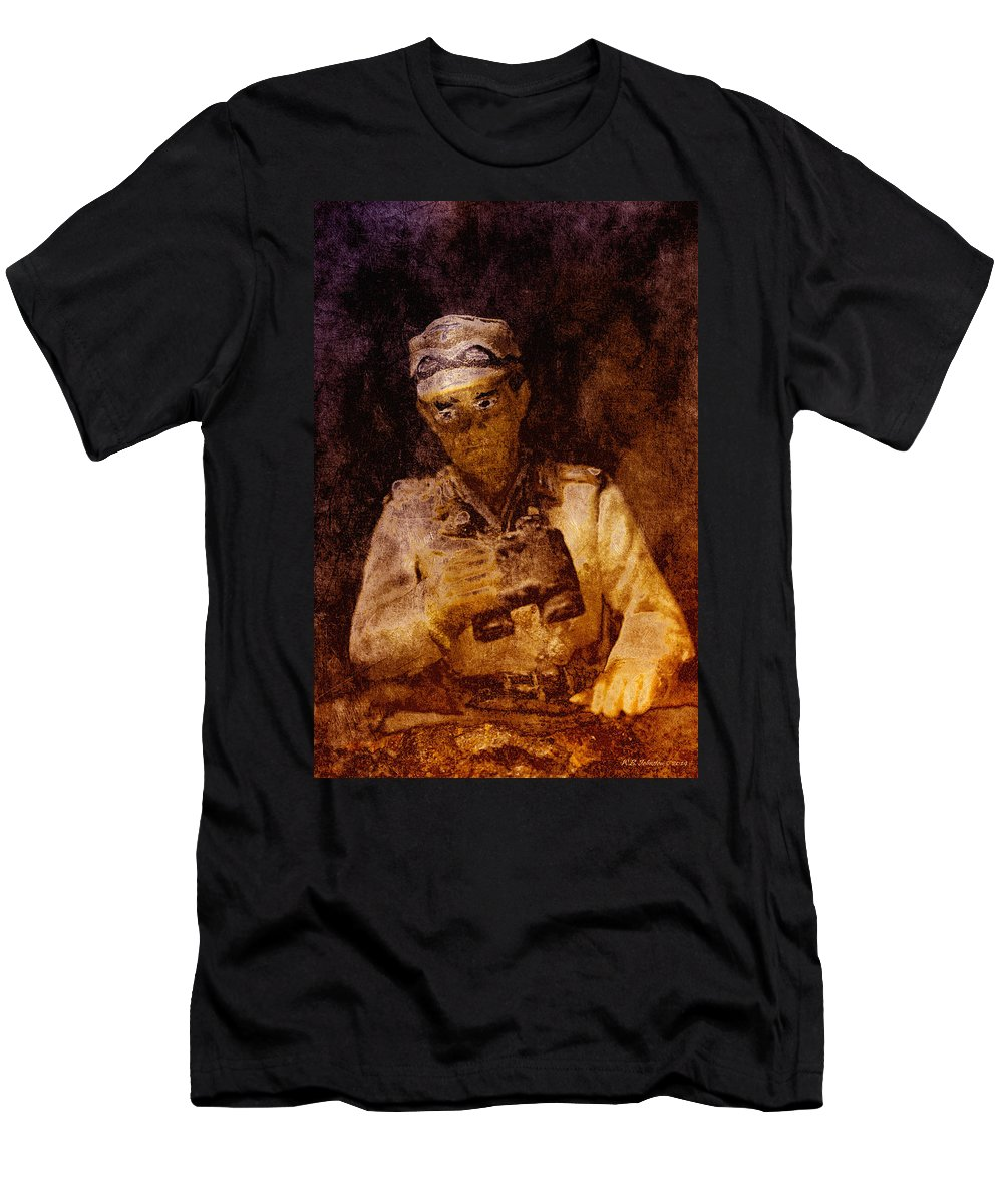 Men's T-Shirt (Athletic Fit) featuring the photograph Tank Commander by WB Johnston