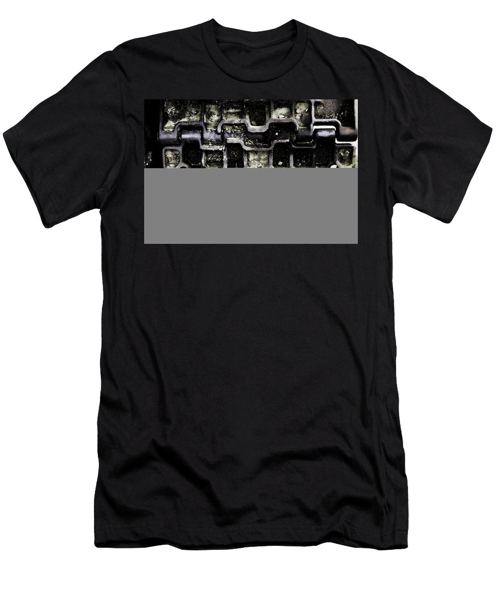 Men's T-Shirt (Athletic Fit) featuring the photograph Tank Track by Cathy Anderson