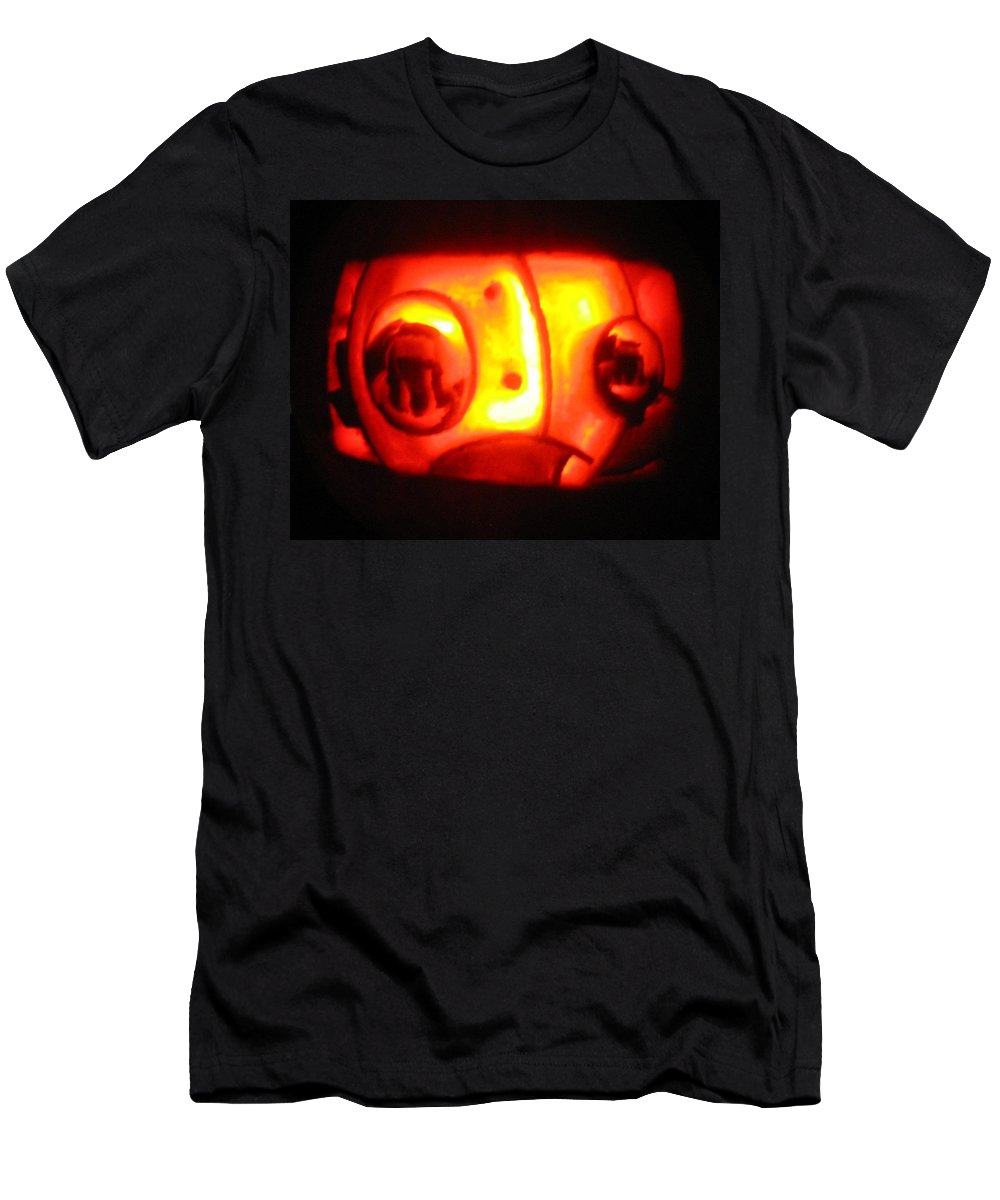 Pumpkin Men's T-Shirt (Athletic Fit) featuring the sculpture Tarboy Pumpkin by Shawn Dall