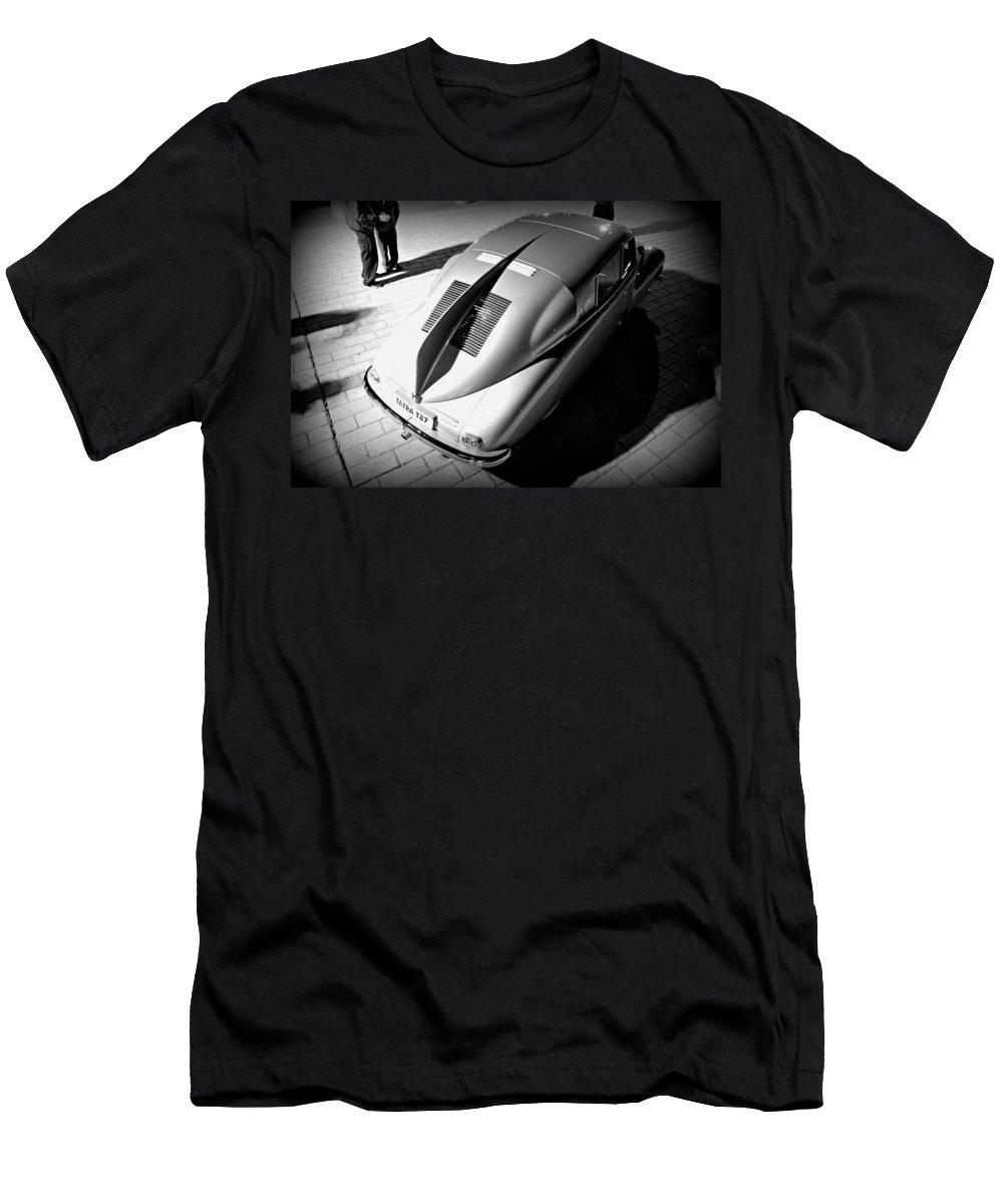 Classic Car Men's T-Shirt (Athletic Fit) featuring the photograph Tatra Noir by Steve Natale