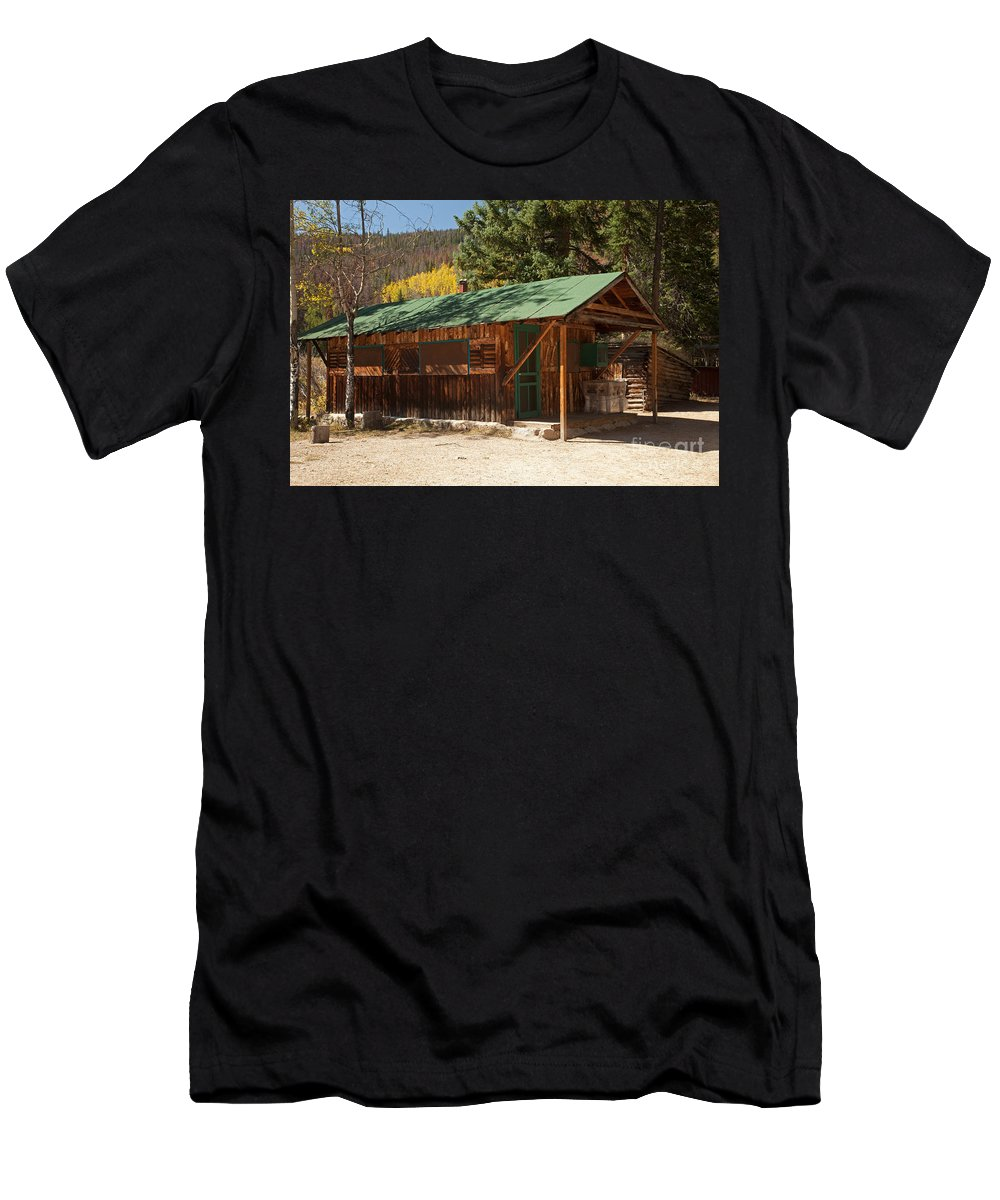 Afternoon Men's T-Shirt (Athletic Fit) featuring the photograph Taxidermyon The Holzwarth Historic Site by Fred Stearns