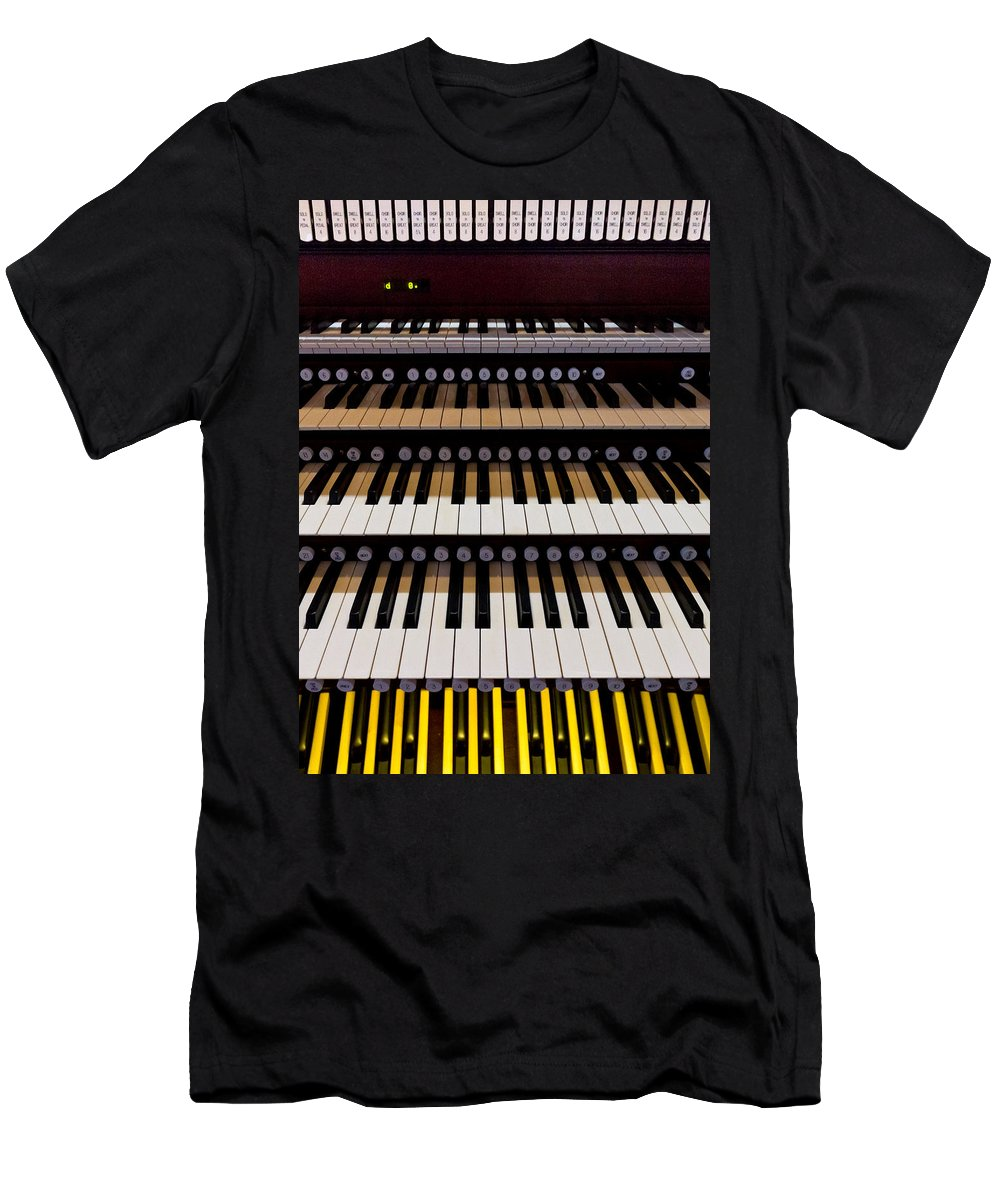 Organ Men's T-Shirt (Athletic Fit) featuring the photograph Teeth Of An Instrument by Jenny Setchell