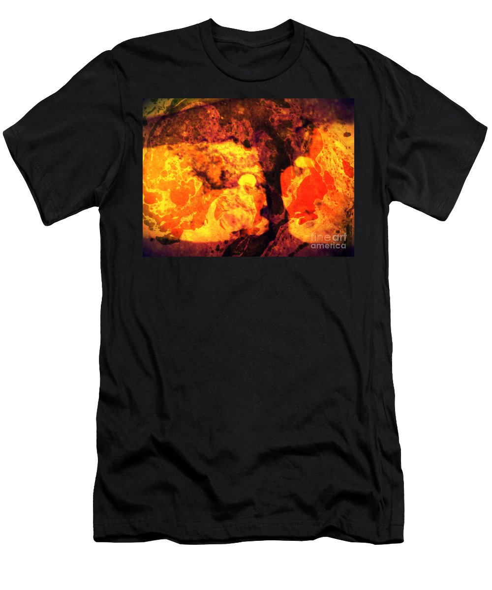 Abstract Men's T-Shirt (Athletic Fit) featuring the mixed media Teit by Daniel Brummitt