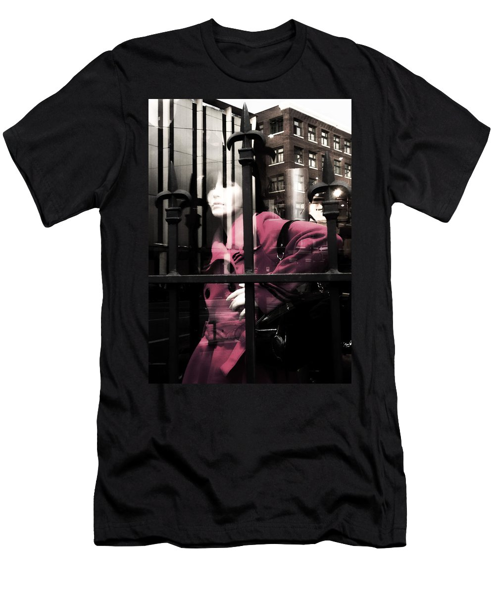 Abstract Men's T-Shirt (Athletic Fit) featuring the photograph Tended To The Bar by The Artist Project