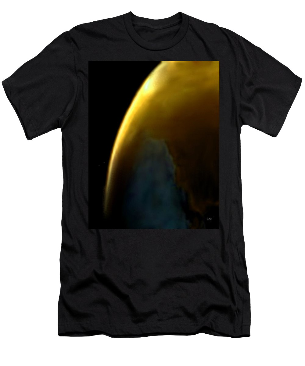 Terra Men's T-Shirt (Athletic Fit) featuring the digital art Terra 4 by Marcello Cicchini